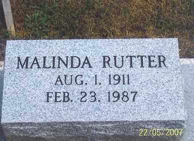 RUTTER, MALINDA - Ross County, Ohio | MALINDA RUTTER - Ohio Gravestone Photos