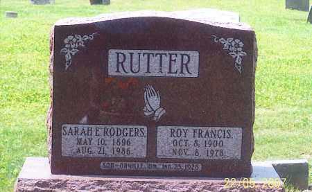 RUTTER, SARAH E. - Ross County, Ohio | SARAH E. RUTTER - Ohio Gravestone Photos