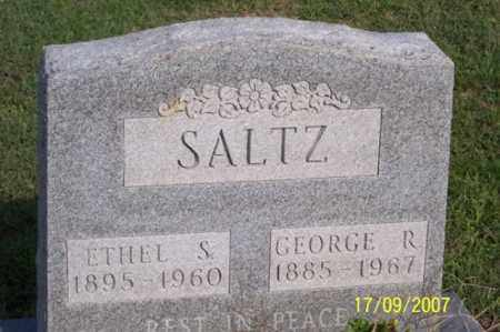 SALTZ, GEORGE R. - Ross County, Ohio | GEORGE R. SALTZ - Ohio Gravestone Photos
