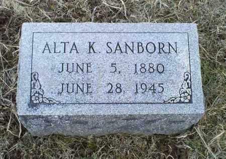 SANBORN, ALTA K. - Ross County, Ohio | ALTA K. SANBORN - Ohio Gravestone Photos