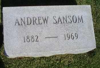 SANSOM, ANDREW - Ross County, Ohio   ANDREW SANSOM - Ohio Gravestone Photos