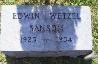 SANSOM, EDWIN WETZEL - Ross County, Ohio   EDWIN WETZEL SANSOM - Ohio Gravestone Photos
