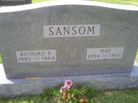 SANSOM, RICHARD B. - Ross County, Ohio | RICHARD B. SANSOM - Ohio Gravestone Photos