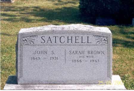 SATCHELL, SARAH - Ross County, Ohio | SARAH SATCHELL - Ohio Gravestone Photos