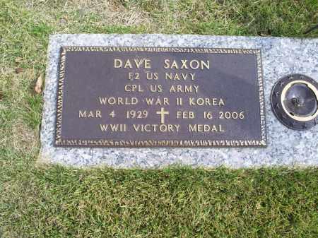 SAXON, DAVE - Ross County, Ohio | DAVE SAXON - Ohio Gravestone Photos