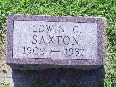 SAXTON, EDWIN C. - Ross County, Ohio | EDWIN C. SAXTON - Ohio Gravestone Photos