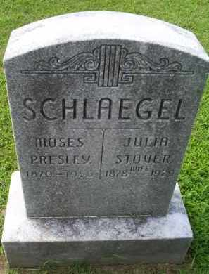 SCHLAEGEL, MOSES PRESLEY - Ross County, Ohio | MOSES PRESLEY SCHLAEGEL - Ohio Gravestone Photos