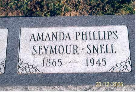SEYMOUR SNELL, AMANDA - Ross County, Ohio | AMANDA SEYMOUR SNELL - Ohio Gravestone Photos