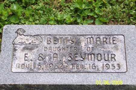 SEYMOUR, BETTY MARIE - Ross County, Ohio | BETTY MARIE SEYMOUR - Ohio Gravestone Photos