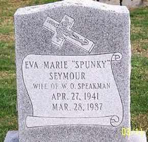 "SPEAKMAN, EVA MARIE ""SPUNKY"" - Ross County, Ohio   EVA MARIE ""SPUNKY"" SPEAKMAN - Ohio Gravestone Photos"