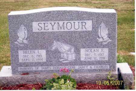 SEYMOUR, NOLAN F. - Ross County, Ohio   NOLAN F. SEYMOUR - Ohio Gravestone Photos