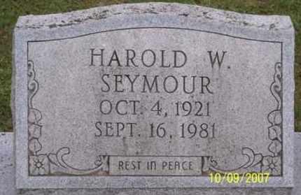 SEYMOUR, HAROLD W. - Ross County, Ohio | HAROLD W. SEYMOUR - Ohio Gravestone Photos