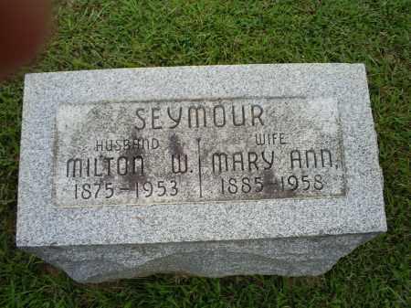 SEYMOUR, MILTON W. - Ross County, Ohio | MILTON W. SEYMOUR - Ohio Gravestone Photos