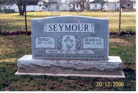 SEYMOUR, RONALD L. - Ross County, Ohio   RONALD L. SEYMOUR - Ohio Gravestone Photos