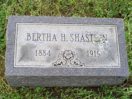 SHASTEEN, BERTHA H. - Ross County, Ohio | BERTHA H. SHASTEEN - Ohio Gravestone Photos