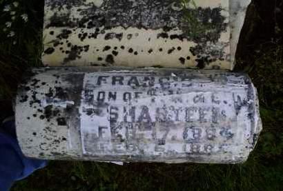 SHASTEEN, FRANCIS - Ross County, Ohio   FRANCIS SHASTEEN - Ohio Gravestone Photos