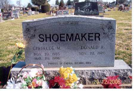 SHOEMAKER, DONALD R. - Ross County, Ohio | DONALD R. SHOEMAKER - Ohio Gravestone Photos