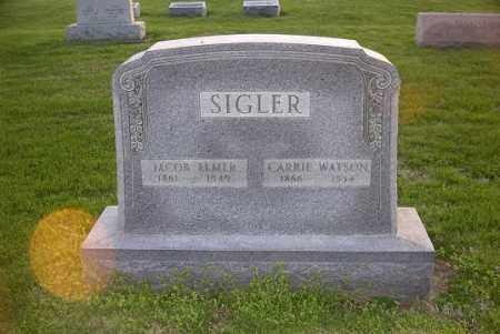 WATSON SIGLER, CARRIE - Ross County, Ohio | CARRIE WATSON SIGLER - Ohio Gravestone Photos