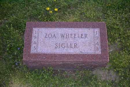 SIGLER, ZOA - Ross County, Ohio | ZOA SIGLER - Ohio Gravestone Photos