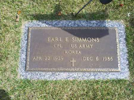 SIMMONS, EARL E. - Ross County, Ohio | EARL E. SIMMONS - Ohio Gravestone Photos