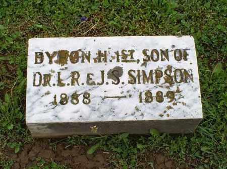SIMPSON, BYRON H. 1ST - Ross County, Ohio   BYRON H. 1ST SIMPSON - Ohio Gravestone Photos