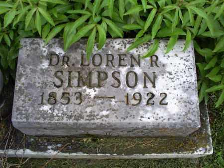 SIMPSON, DR. LAUREN R. - Ross County, Ohio | DR. LAUREN R. SIMPSON - Ohio Gravestone Photos