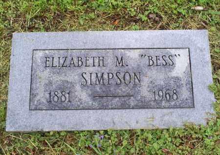 "SIMPSON, ELIZABETH M. ""BESS"" - Ross County, Ohio   ELIZABETH M. ""BESS"" SIMPSON - Ohio Gravestone Photos"