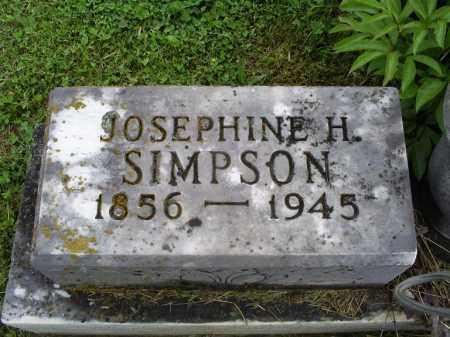 SIMPSON, JOSEPHINE H. - Ross County, Ohio | JOSEPHINE H. SIMPSON - Ohio Gravestone Photos