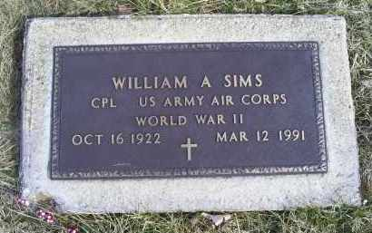 SIMS, WILLIAM A. - Ross County, Ohio | WILLIAM A. SIMS - Ohio Gravestone Photos