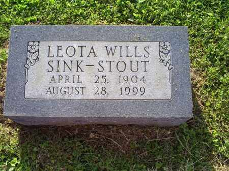 WILLS SINK-STOUT, LEOTA - Ross County, Ohio | LEOTA WILLS SINK-STOUT - Ohio Gravestone Photos