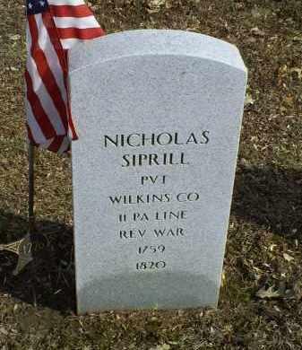 SIPRILL, NICHOLAS - Ross County, Ohio   NICHOLAS SIPRILL - Ohio Gravestone Photos