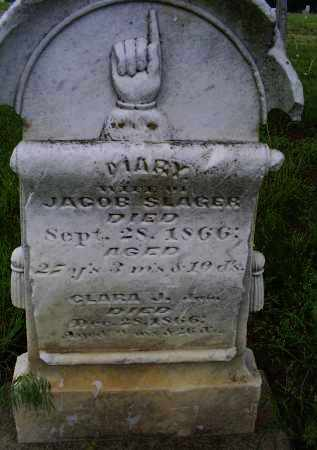 SLAGER, MARY - Ross County, Ohio | MARY SLAGER - Ohio Gravestone Photos