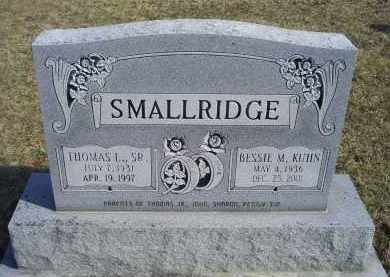 KUHN SMALLRIDGE, BESSIE M. - Ross County, Ohio | BESSIE M. KUHN SMALLRIDGE - Ohio Gravestone Photos
