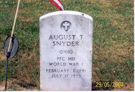 SNYDER, AUGUST T. - Ross County, Ohio | AUGUST T. SNYDER - Ohio Gravestone Photos