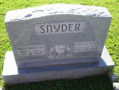 SNYDER, MARTIN LUTHER - Ross County, Ohio | MARTIN LUTHER SNYDER - Ohio Gravestone Photos
