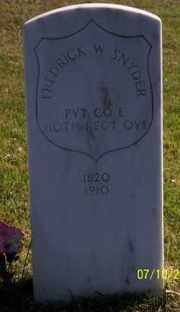 SNYDER, FREDERICK W. - Ross County, Ohio | FREDERICK W. SNYDER - Ohio Gravestone Photos