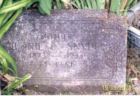 SNYDER, JENNIE - Ross County, Ohio | JENNIE SNYDER - Ohio Gravestone Photos