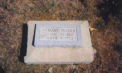 SNYDER, MARY C. - Ross County, Ohio | MARY C. SNYDER - Ohio Gravestone Photos