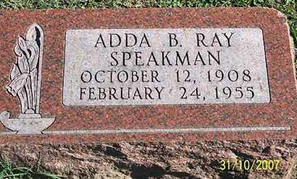SPEAKMAN, ADDA B. - Ross County, Ohio | ADDA B. SPEAKMAN - Ohio Gravestone Photos