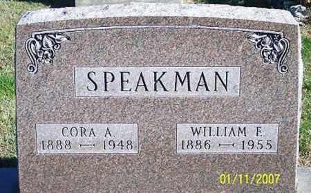 SPEAKMAN, CORA A. - Ross County, Ohio | CORA A. SPEAKMAN - Ohio Gravestone Photos
