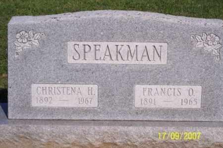 SPEAKMAN, FRANCIS O. - Ross County, Ohio   FRANCIS O. SPEAKMAN - Ohio Gravestone Photos