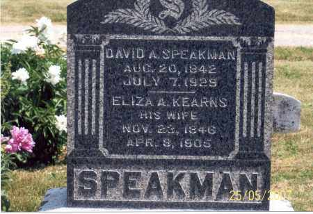 SPEAKMAN, DAVID A. - Ross County, Ohio | DAVID A. SPEAKMAN - Ohio Gravestone Photos