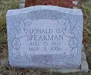 SPEAKMAN, DONALD O. - Ross County, Ohio | DONALD O. SPEAKMAN - Ohio Gravestone Photos