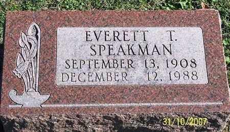 SPEAKMAN, EVERETT T. - Ross County, Ohio   EVERETT T. SPEAKMAN - Ohio Gravestone Photos