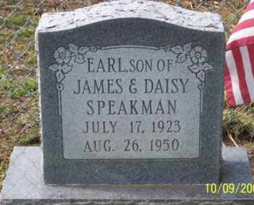 SPEAKMAN, EARL - Ross County, Ohio | EARL SPEAKMAN - Ohio Gravestone Photos