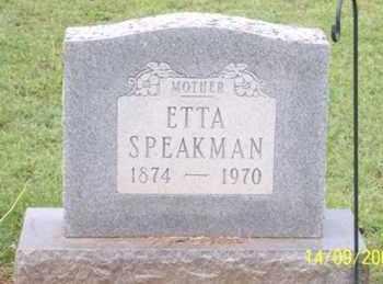 SPEAKMAN, ETTA - Ross County, Ohio | ETTA SPEAKMAN - Ohio Gravestone Photos