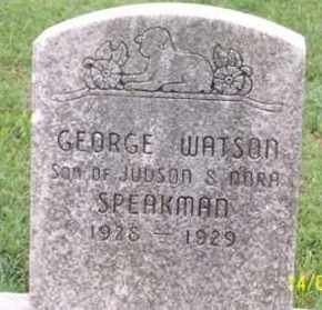 SPEAKMAN, GEORGE WATSON - Ross County, Ohio | GEORGE WATSON SPEAKMAN - Ohio Gravestone Photos