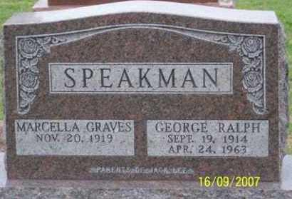 SPEAKMAN, GEORGE RALPH - Ross County, Ohio | GEORGE RALPH SPEAKMAN - Ohio Gravestone Photos