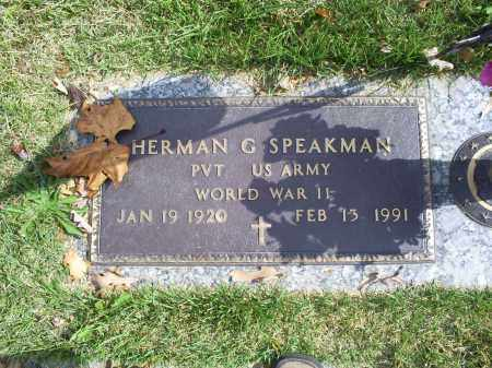 SPEAKMAN, HERMAN G. - Ross County, Ohio | HERMAN G. SPEAKMAN - Ohio Gravestone Photos