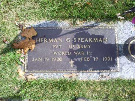 SPEAKMAN, HERMAN G. - Ross County, Ohio | HERMAN G. SPEAKMAN - Ohio Gravestone Photos